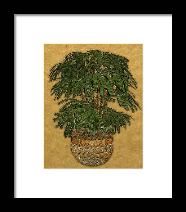 Topiary Framed Print featuring the painting Topiary 4 by Carol Peck