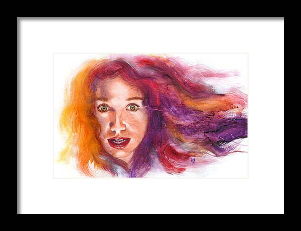 Musicians Framed Print featuring the painting Tori Rainbow by Ken Meyer