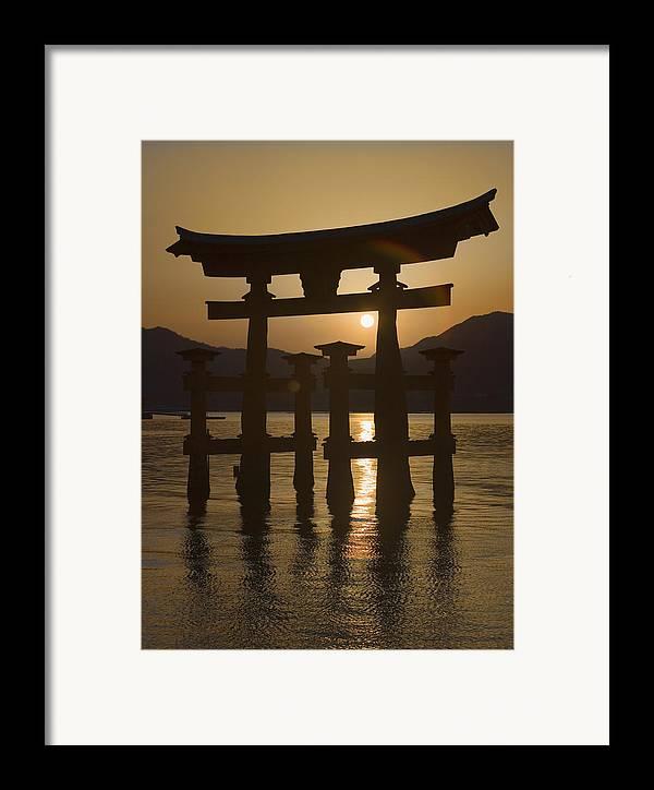Torii Framed Print featuring the photograph Torii by Karen Walzer