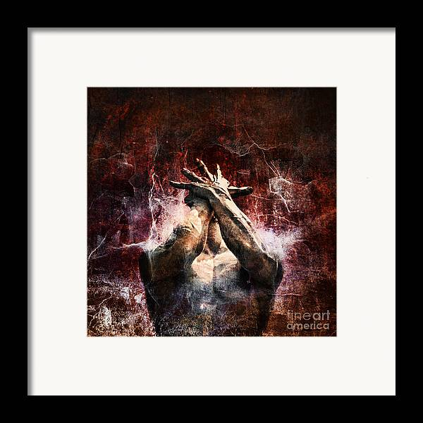 Statue Framed Print featuring the photograph Torment by Andrew Paranavitana