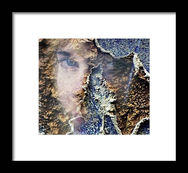Female Framed Print featuring the photograph Torn by Skip Hunt