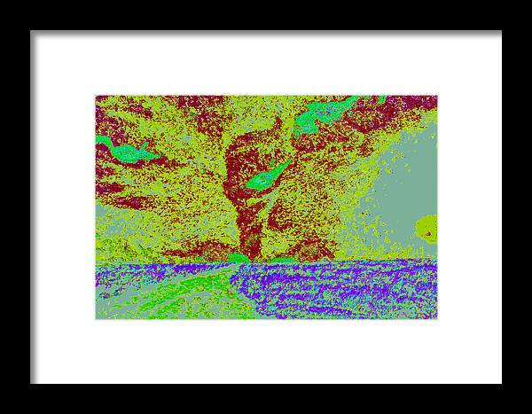 Framed Print featuring the digital art Tornado Storm D4 by Modified Image