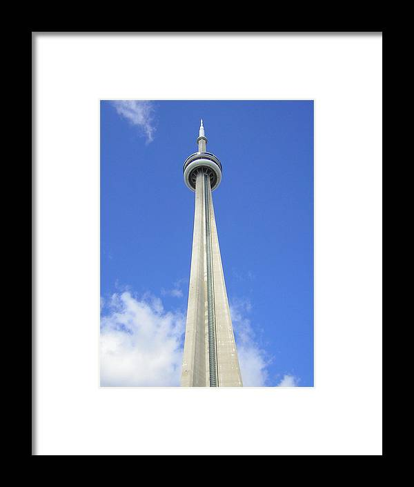 Toronto Needle Framed Print featuring the photograph Tornto Needle by Heather Weikel