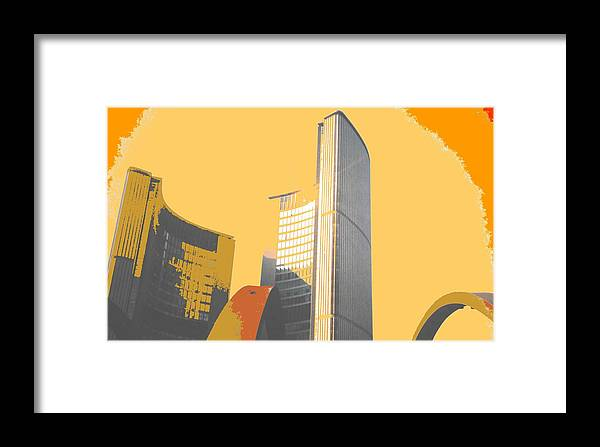 Toronto Framed Print featuring the photograph Toronto City Hall Arches by Ian MacDonald
