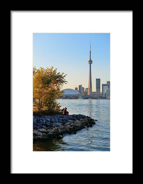 Toronto Framed Print featuring the photograph Toronto Cn Tower by Songquan Deng