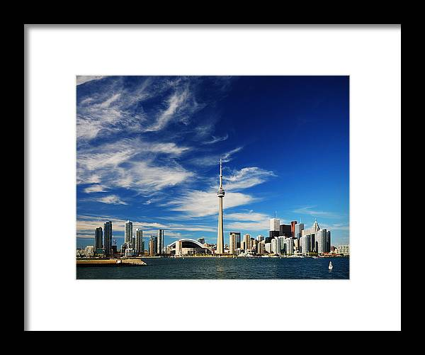 Toronto Framed Print featuring the photograph Toronto skyline by Andriy Zolotoiy