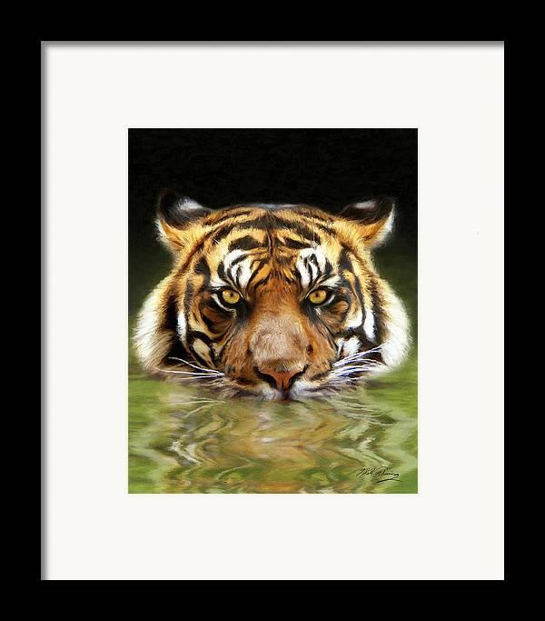 Wildlife Art Framed Print featuring the digital art Torrent by Bill Fleming