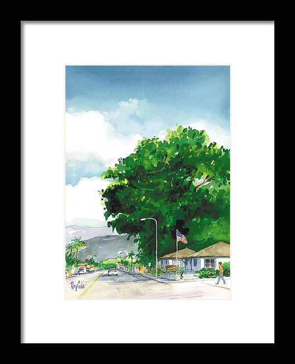 Historic Landmark Framed Print featuring the painting Torrey Pine by Ray Cole