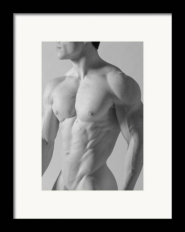 Nude Framed Print featuring the photograph Torso C by Dan Nelson