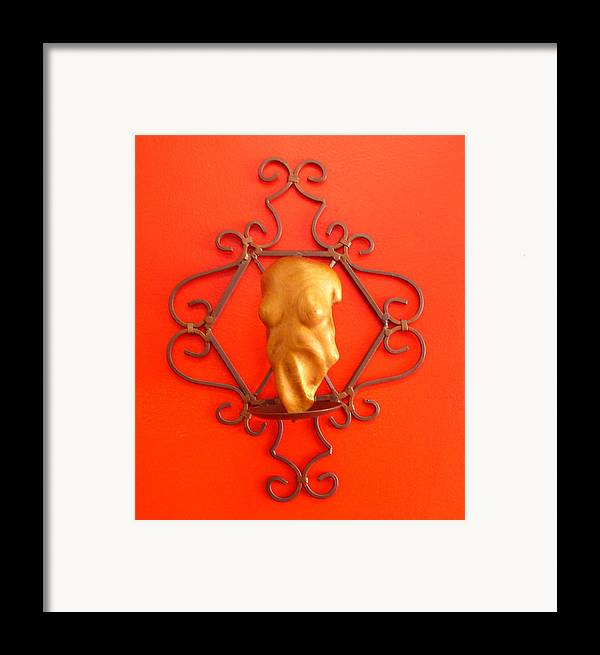 Figure Framed Print featuring the sculpture Torso by Victor Amor