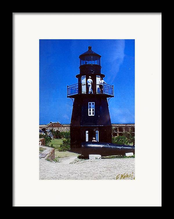 Landscape Photographs Framed Print featuring the photograph Tortugas Light by Frederic Kohli