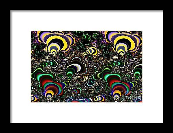 Torus Framed Print featuring the digital art Torus Spirals by Ron Bissett