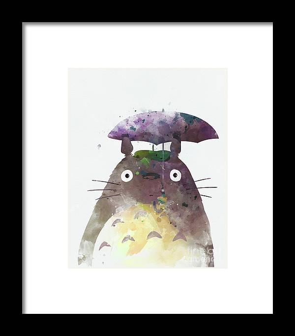 54a9e7d698b3a Totoro Framed Print featuring the mixed media Totoro My Neighbour by Monn  Print