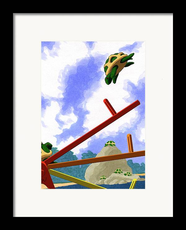 Dkzn Framed Print featuring the digital art Totter by Tom Dickson