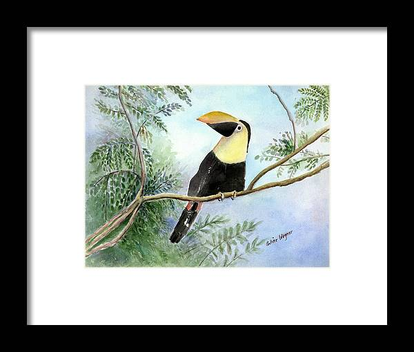 Toucan Framed Print featuring the painting Toucan by Arline Wagner