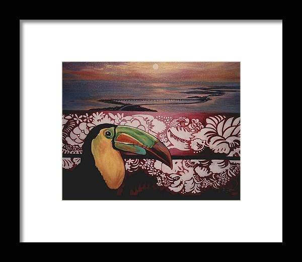 Bird Framed Print featuring the painting Toucan by Diann Baggett