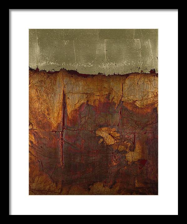Abstract Framed Print featuring the painting Touch Me by Wayne Berger