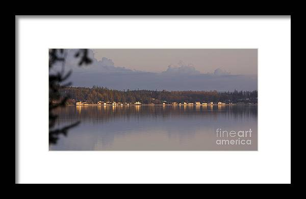 Panoramic Framed Print featuring the photograph Touch Of Gold by Sandy Byers