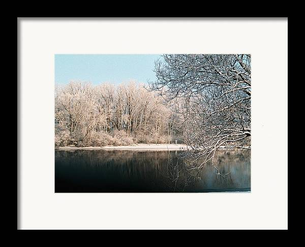 Snow Framed Print featuring the photograph Touch Of Snow by Jennifer Englehardt