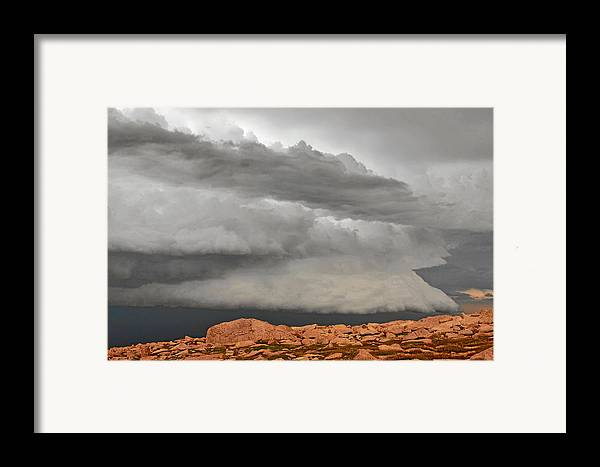 Clouds Framed Print featuring the photograph Touch The Clouds by Christine Till