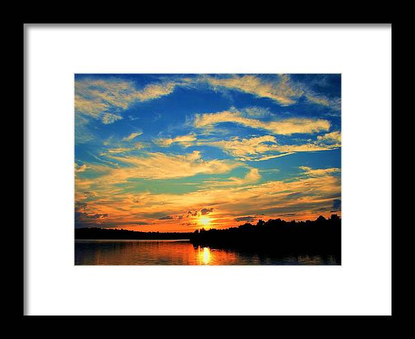 Sunset Framed Print featuring the photograph Touch The Wind by Mitch Cat