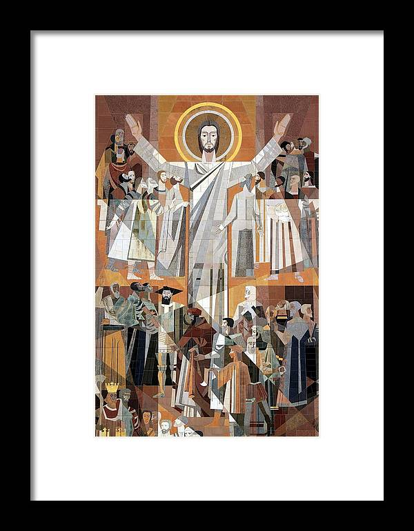 Jesus Framed Print featuring the photograph Touchdown Jesus by Christopher Miles Carter