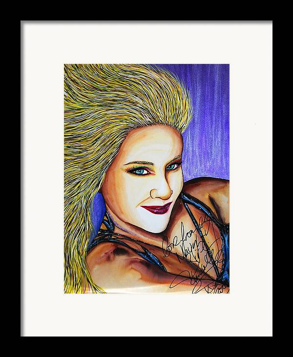 1980s Framed Print featuring the mixed media Touched Her Fun by Joseph Lawrence Vasile