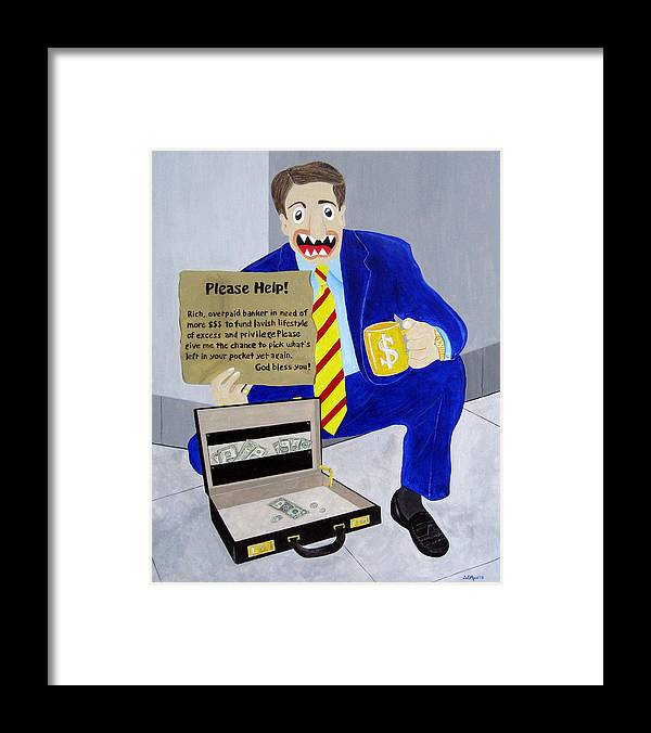 Funism Framed Print featuring the painting Tough Times by Sal Marino