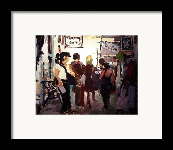 Landscape Paintings Framed Print featuring the painting Tourists by Brian Simons