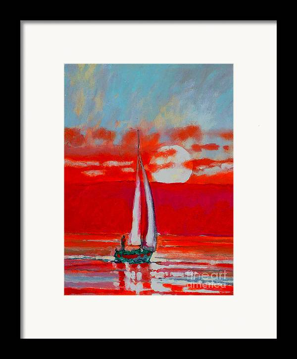 Sailing Framed Print featuring the painting Toward Sunset I by Kip Decker