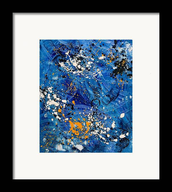 Abstract Framed Print featuring the painting Toward The Future by Dominique Boutaud