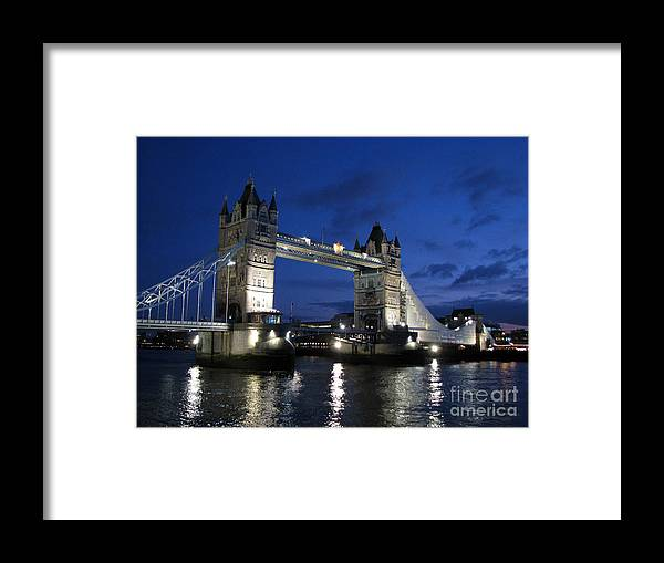 London Framed Print featuring the photograph Tower Bridge by Amanda Barcon
