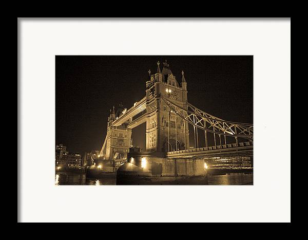 London Framed Print featuring the photograph Tower Bridge Of London by Joshua Francia