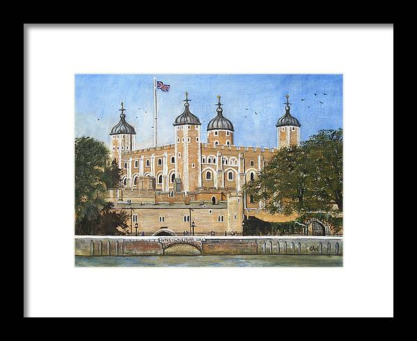 London Framed Print featuring the painting Tower Of London by Carol Williams
