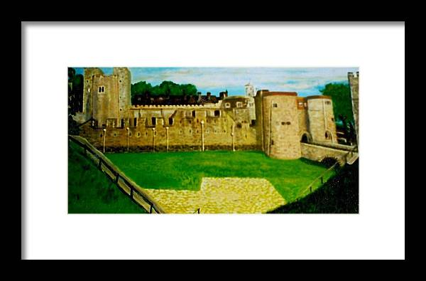 Castle Framed Print featuring the painting Tower Of London Study by Richard Hubal