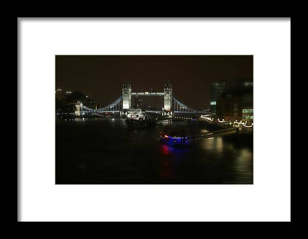 London Framed Print featuring the photograph Tower Over The Thymes by Joseph G Holland