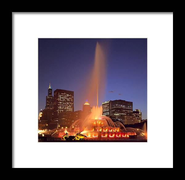 Chicago Framed Print featuring the photograph Towers And Fountains by Donald Schwartz