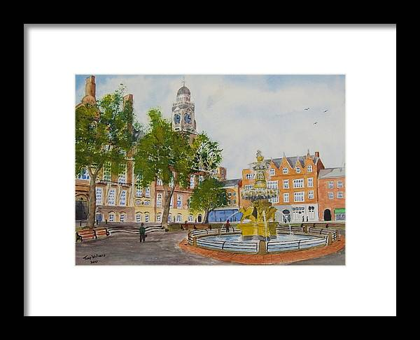 Leicester Framed Print featuring the painting Town Hall Square Leicester by Tony Williams