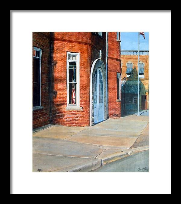 Realistic Framed Print featuring the painting Town Hall by William Brody