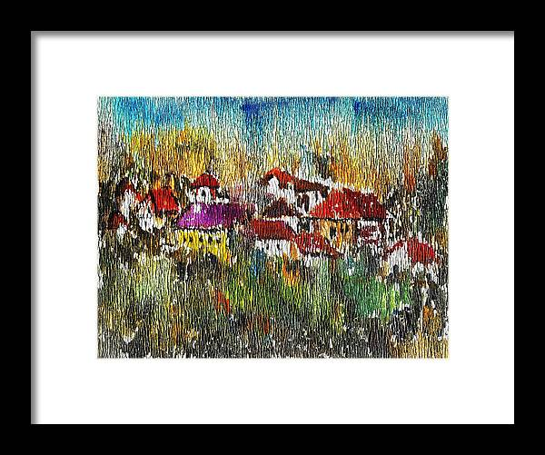 Town To Country Framed Print featuring the painting Town To Country by Cuiava Laurentiu