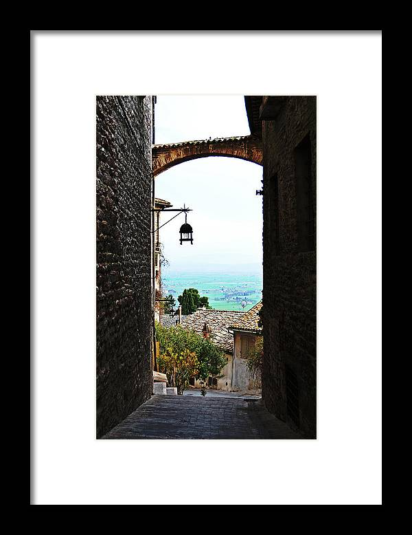 Town Framed Print featuring the photograph Town View In Italy by HazelPhoto