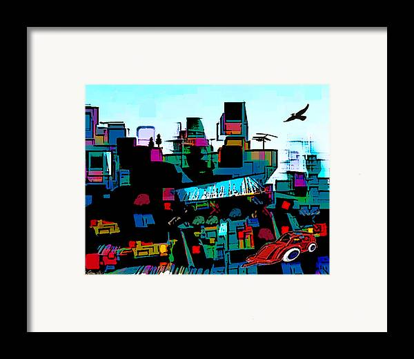 City Framed Print featuring the digital art Toyland by Sabine Stetson