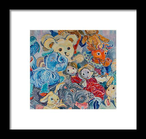 Toys Framed Print featuring the painting Toys by Vitali Komarov