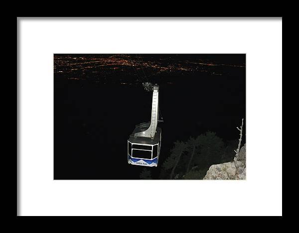 Albuquerque Framed Print featuring the photograph Tr09 Sandia Tram by James D Waller