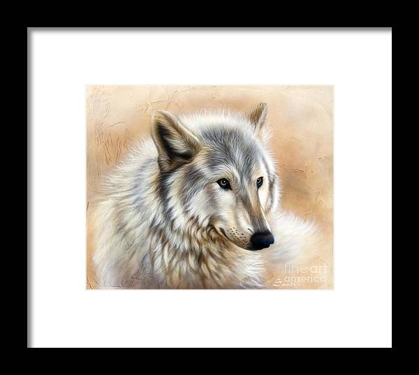 Acrylic Framed Print featuring the painting Trace by Sandi Baker