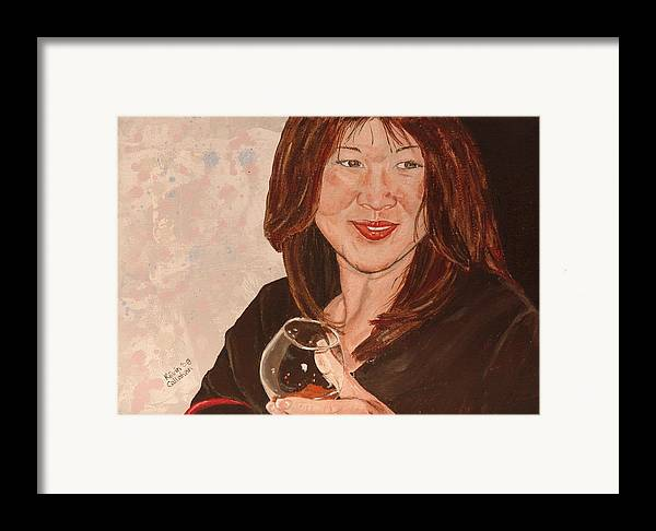 Brandy Framed Print featuring the painting Tracey Comes To Dinner by Kevin Callahan