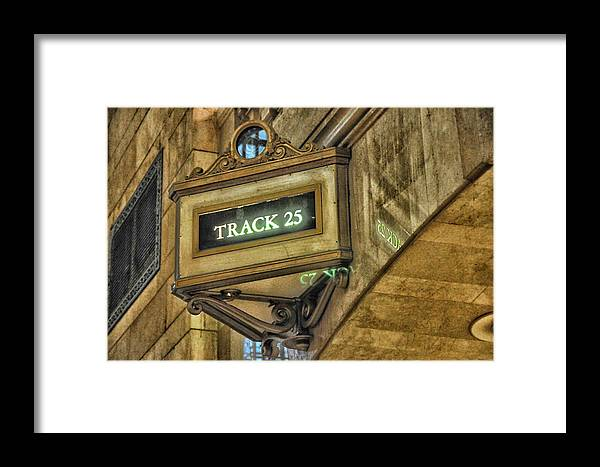Track Framed Print featuring the photograph Track 25 by Mike Martin