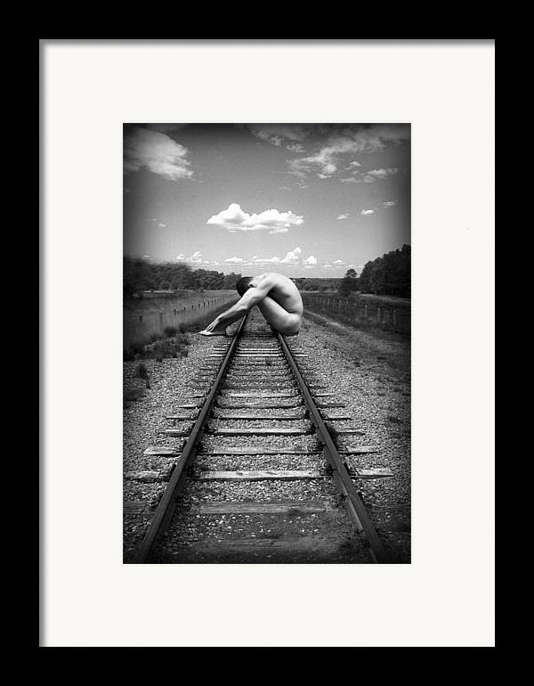 Photo Collage Framed Print featuring the photograph Tracks by Chance Manart