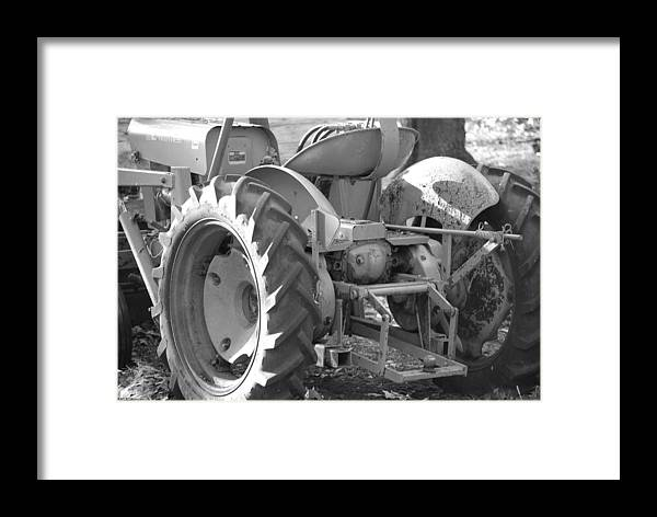 Tractor Framed Print featuring the photograph Tractor In Black And White by Peter McIntosh