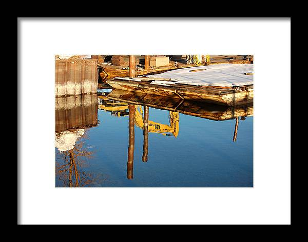 Photography Framed Print featuring the photograph Tractor Reflections by Heather S Huston